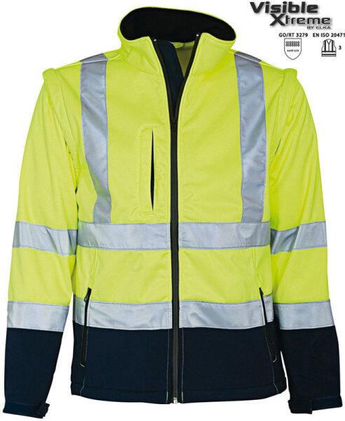 ELKA Warnschutz Softshell Jacke EN471 mit abnehmbaren rmeln