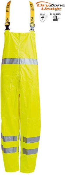 ELKA Warnschutz Regen Latzhose En471 - DryZone