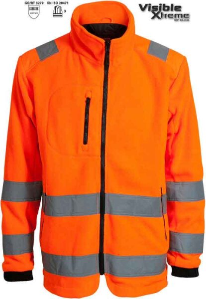 ELKA Warnschutz ZipP IN 2-1 Jacke 150014R Visible Xtreme
