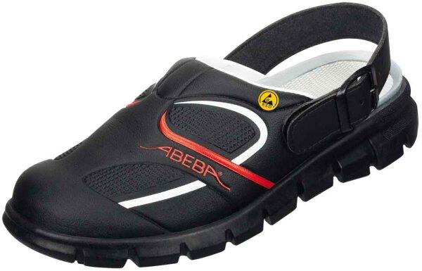 ABEBA Clog schwarz/ rot ESD 37332 OB