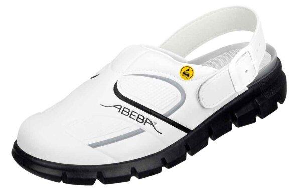 ABEBA Clog weiß/ schwarz ESD 37335 OB