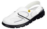 ABEBA Clog weiß/ schwarz ESD 37345 OB