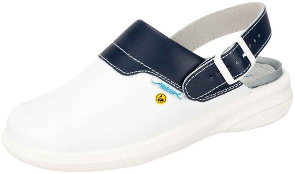 ABEBA Clog weiß/ blau ESD 37622 OB