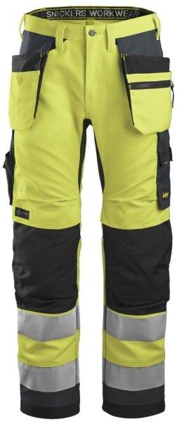 Snickers Warnschutzhose AllroundWork High-Vis mit Holstertaschen 6230
