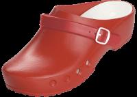CHIROCLOGS Classic rot OP-Clogs mit Fersenriemen