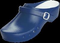 CHIROCLOGS Classic blau OP-Clogs mit Fersenriemen