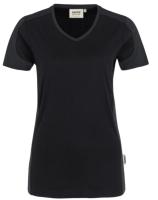 Hakro Damen V-Shirt Contrast 190 Mikralinar
