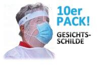 10 Facer Gesichtsschilde - durchsichtig - nachhaltige...