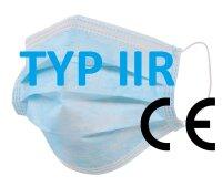 Chirurgische Masken für Kinder, Medizinische Masken mit OhrschlaufenTYP IIR  mit CE Kennzeichnung, EN 14683:2019, CE zertifiziert