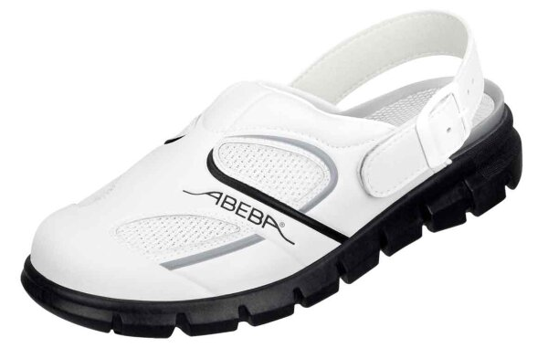 ABEBA Clog weiß/ schwarz 7345 OB