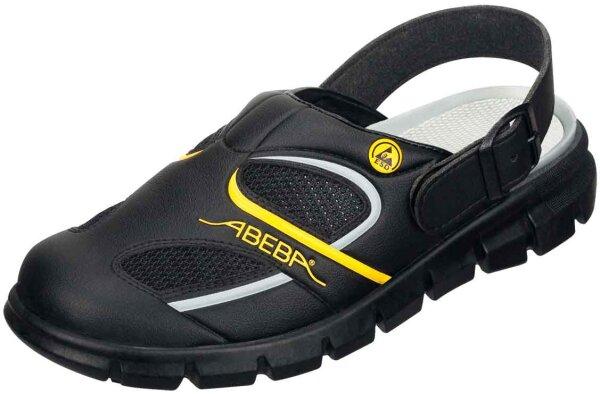 ABEBA Clog schwarz/ gelb 37343 OB