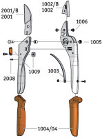 Original LÖWE 2104 Amboss Schere mit verstellbarer Griffweite
