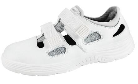 ABEBA Sicherheitsschuhe x-light Sandale weiß 711031 S1